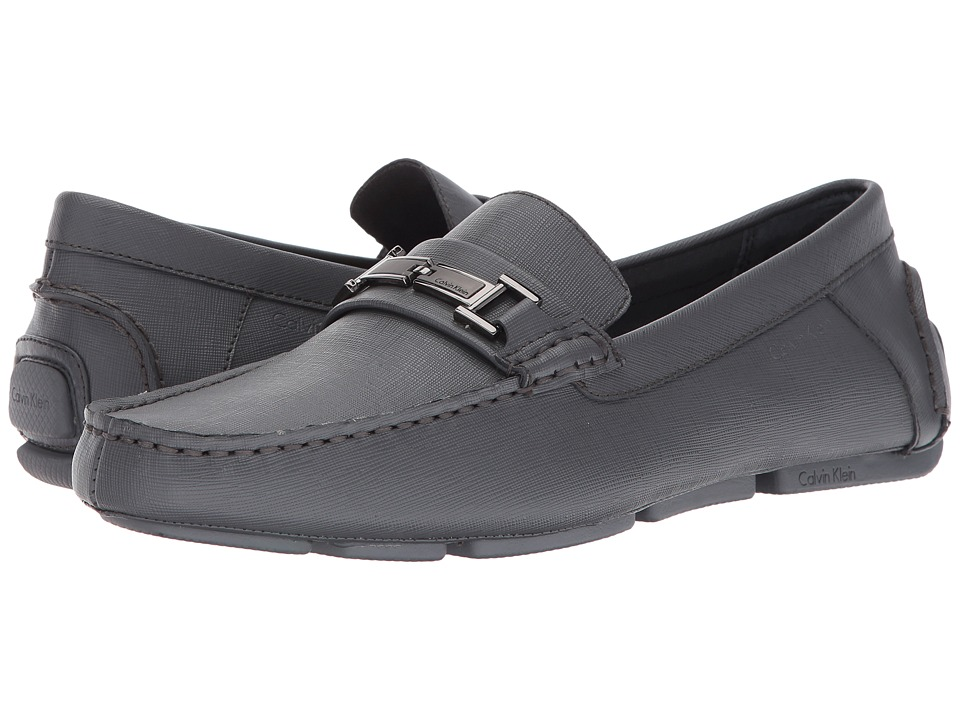 Calvin Klein - Morrie (Grey Textured Leather) Men's Shoes