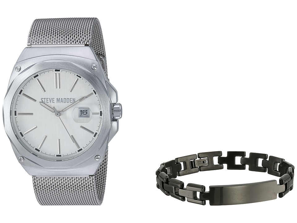 Steve Madden - SMWS003 (Silver/Black) Watches