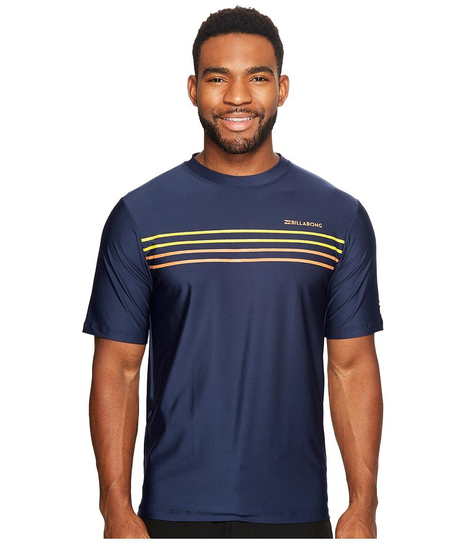 Billabong - Lo Tide Spinner Loose Fit Short Sleeve Surf Shirt (Navy) Men's Swimwear