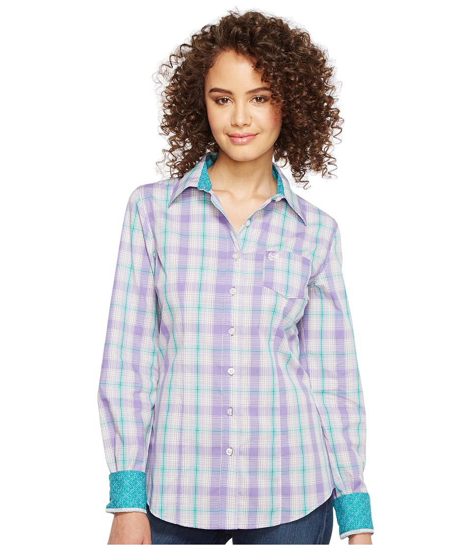 Cinch - Plain Weave Plaid (Purple) Women's Clothing