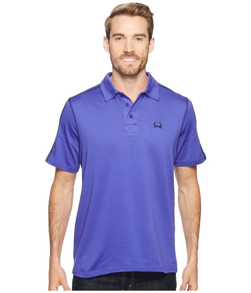 Cinch - Athletic Tech Polo (Purple) Men's Short Sleeve Pullover