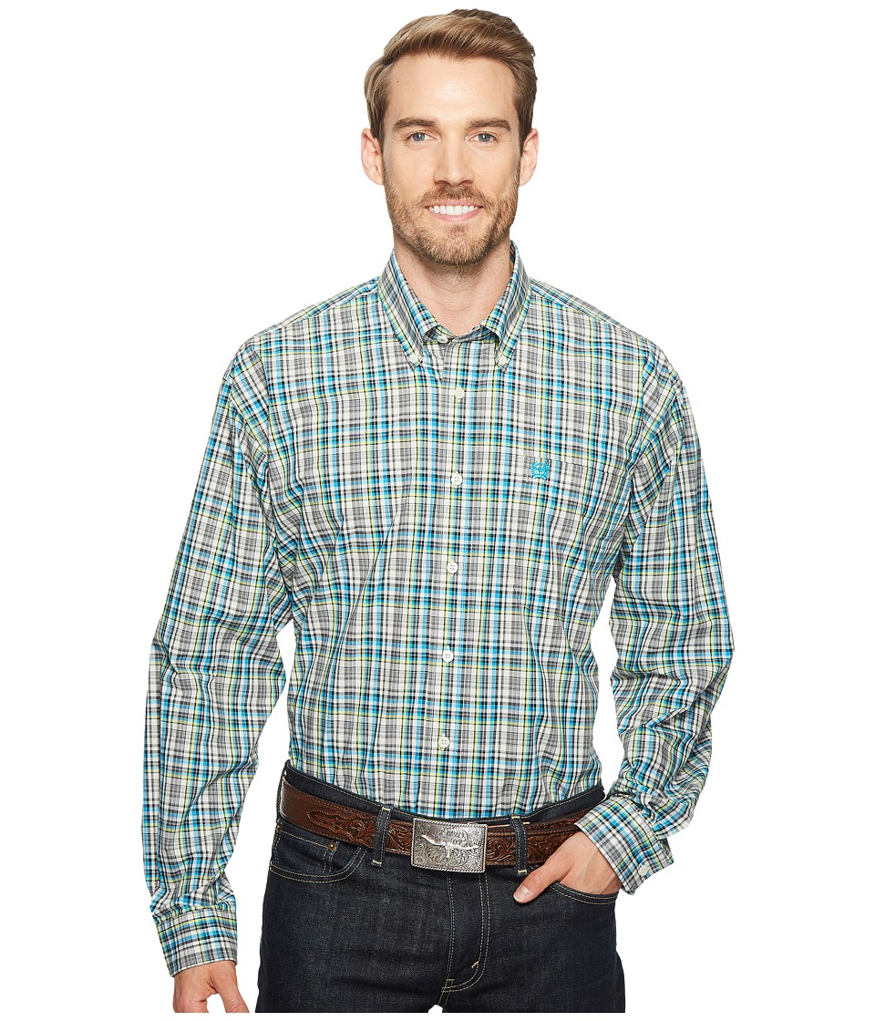Cinch - Plain Weave Plaid (White 1) Men's Clothing