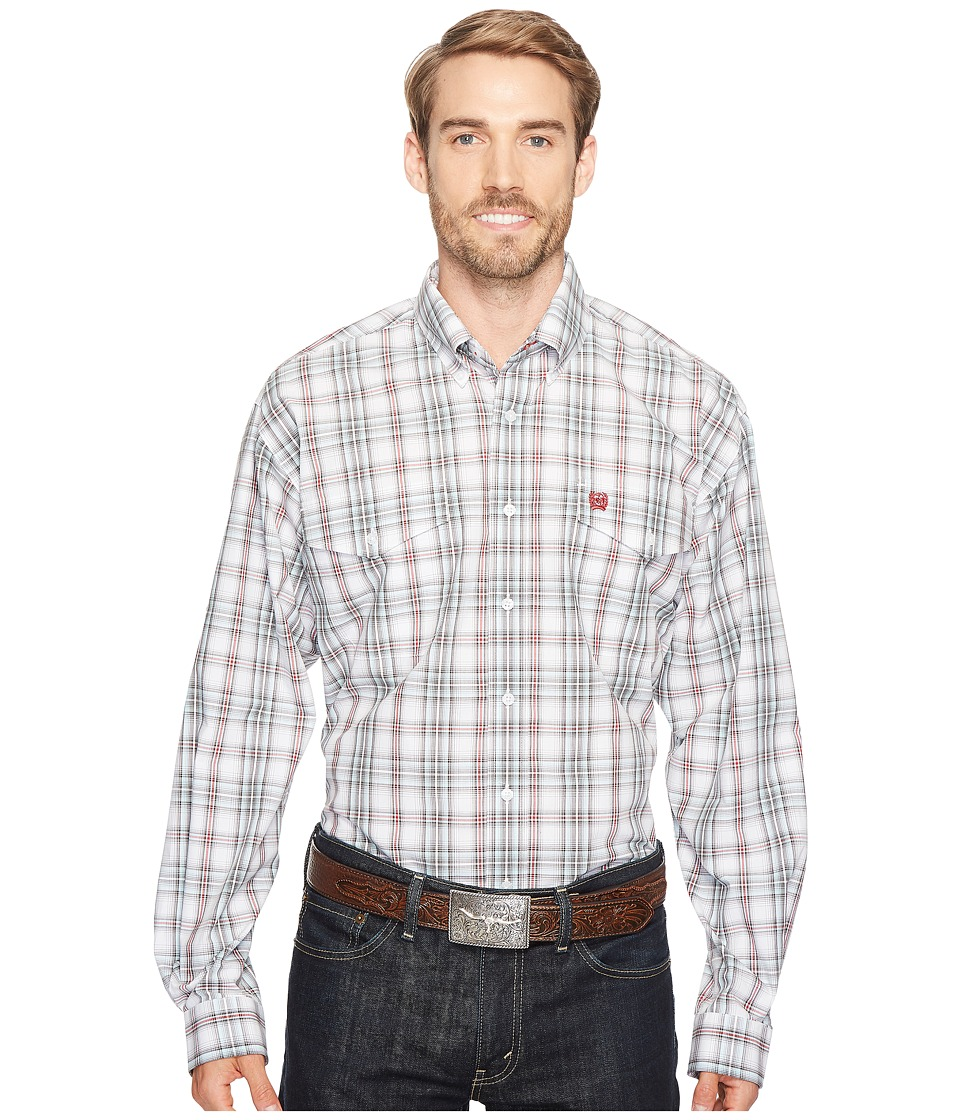 Cinch - Plain Weave Plaid (White 5) Men's Clothing
