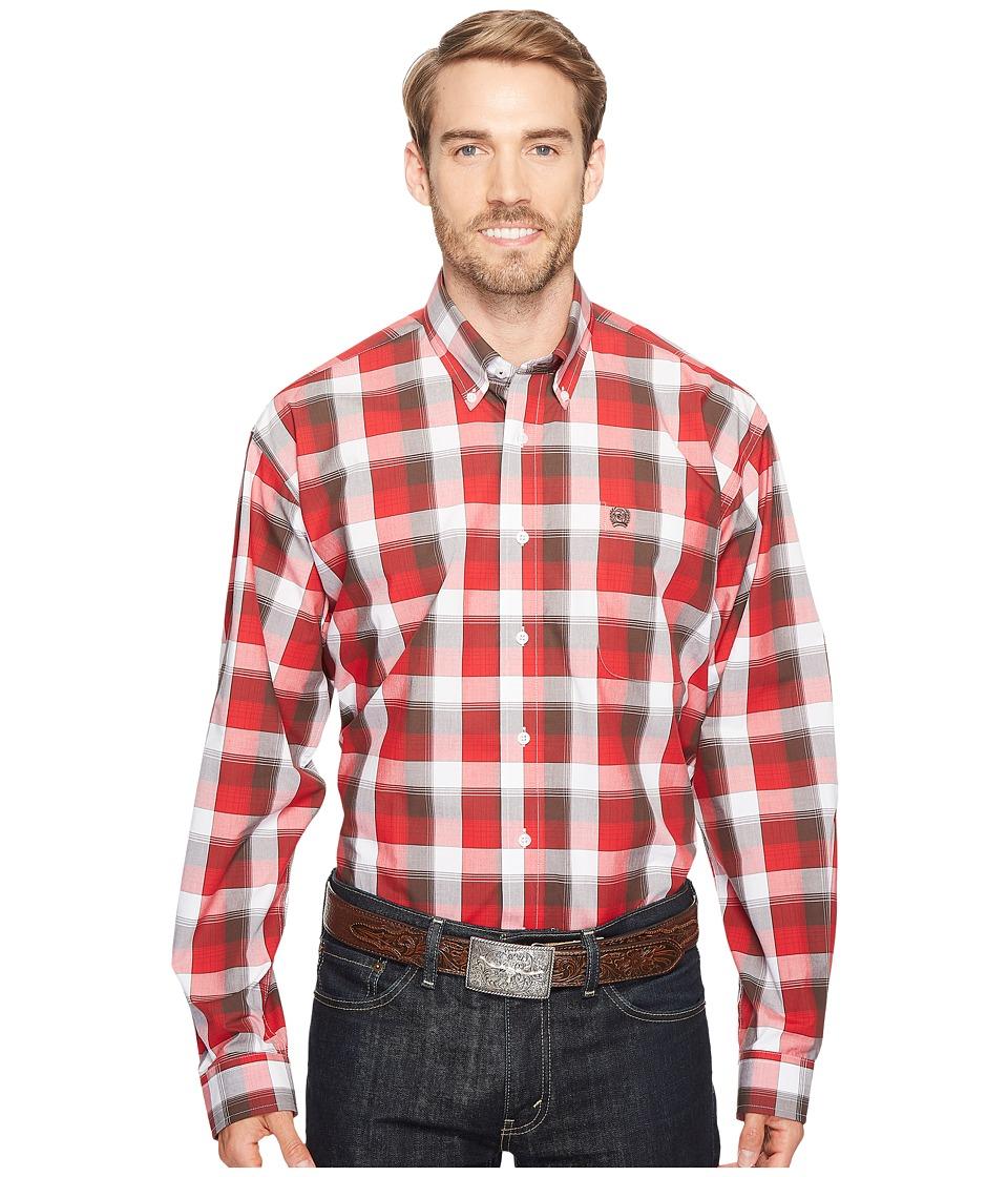 Cinch - Plain Weave Plaid (White 6) Men's Clothing