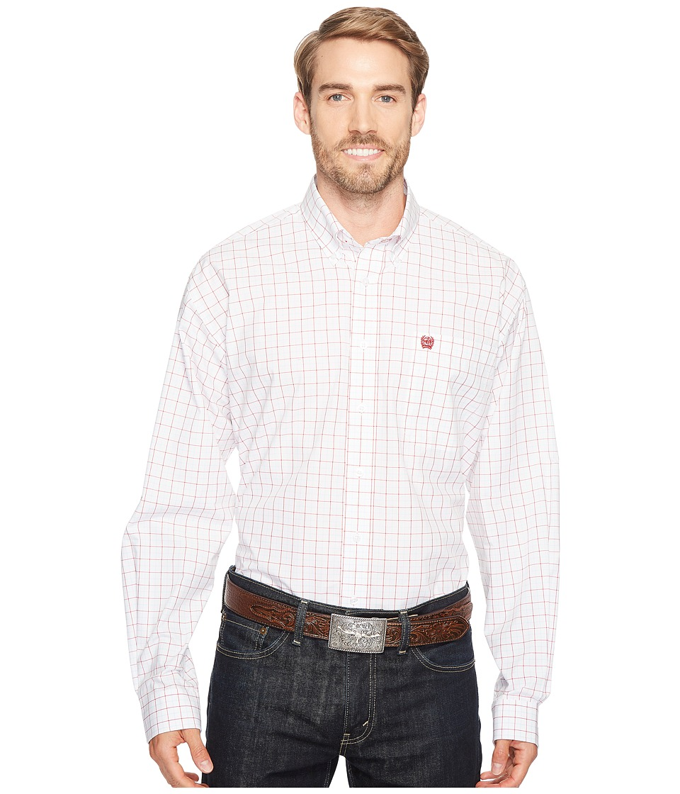 Cinch - Plain Weave Plaid (White 7) Men's Clothing