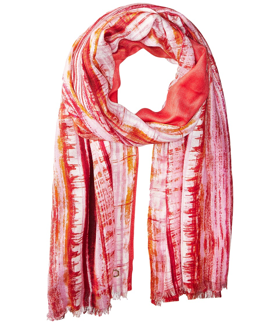 Calvin Klein - Paint Stroke Scarf (Porcelain Rose) Scarves