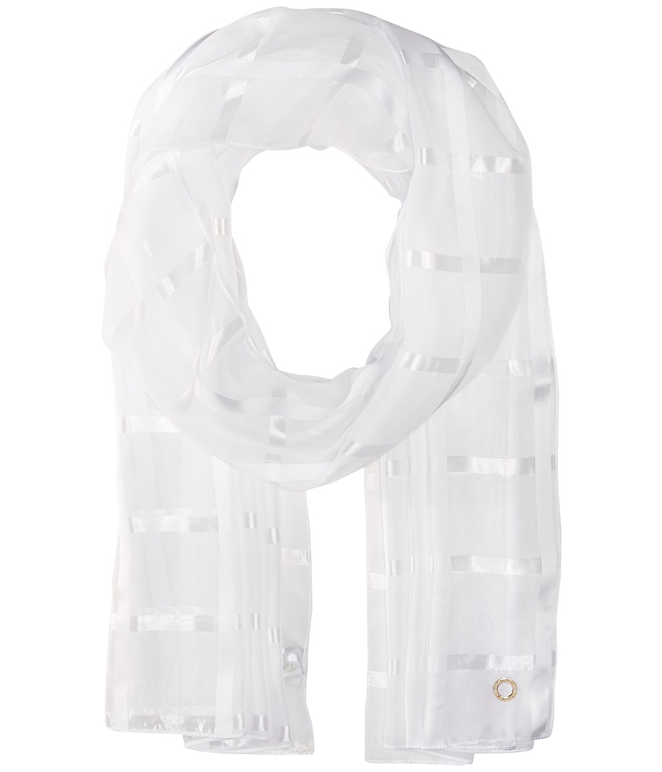 Calvin Klein - Solid Shadow Stripe (Eggshell) Scarves