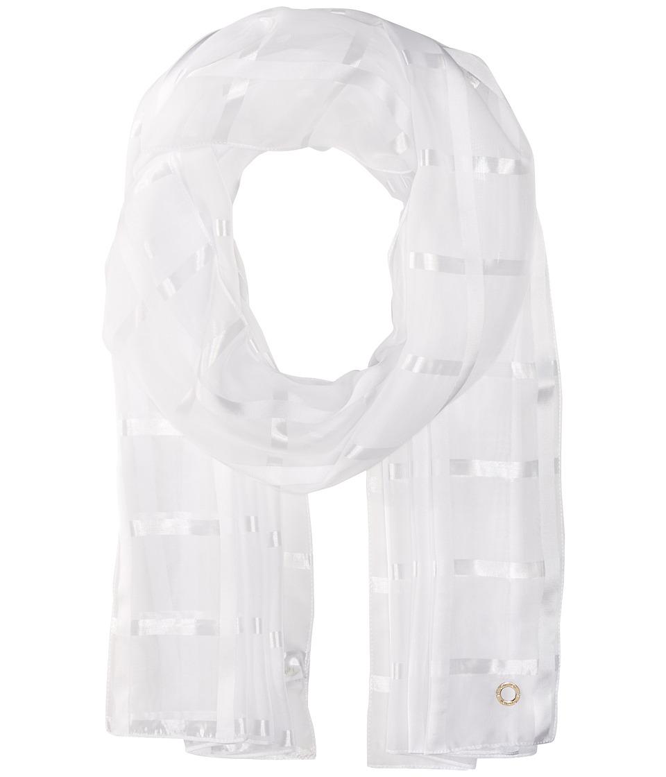 Calvin Klein - Solid Shadow Stripe (Eggshell) Scarves