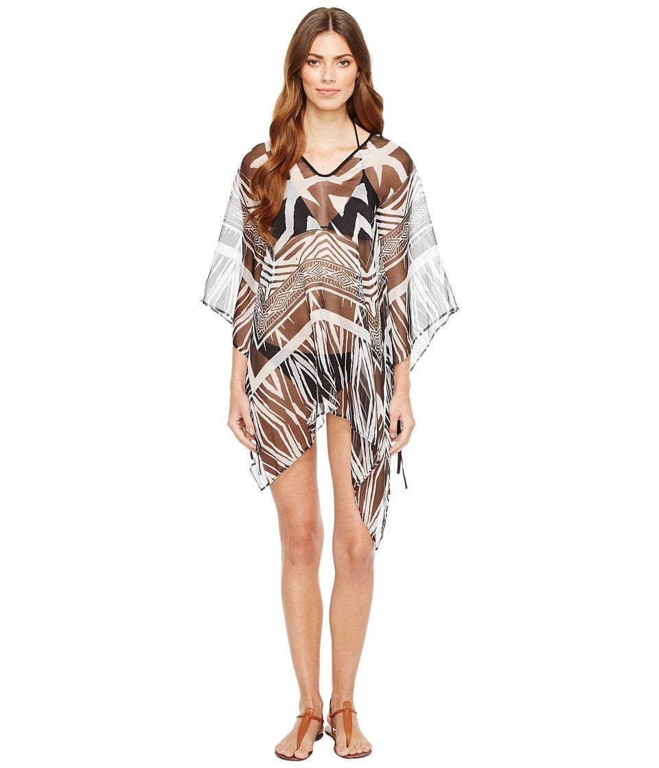 Calvin Klein - Tribal Geo Cover-Up (Black) Women's Clothing