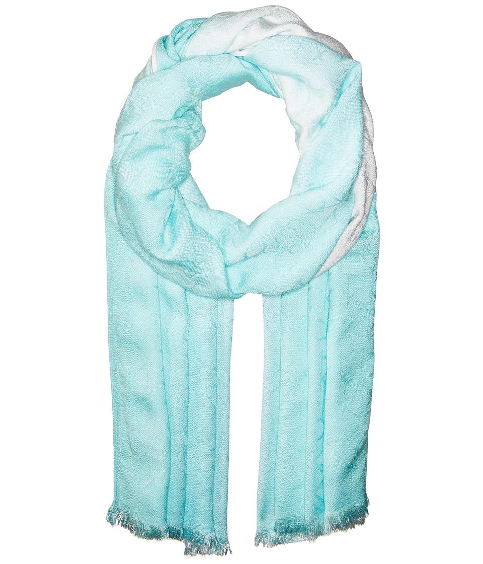 Calvin Klein - Dip-Dye Logo Scarf (Seaglass/Eggshell) Scarves