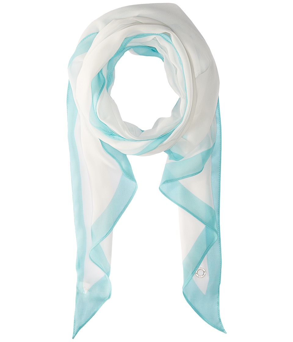 Calvin Klein - Angled Edge with Border (Seaglass) Scarves