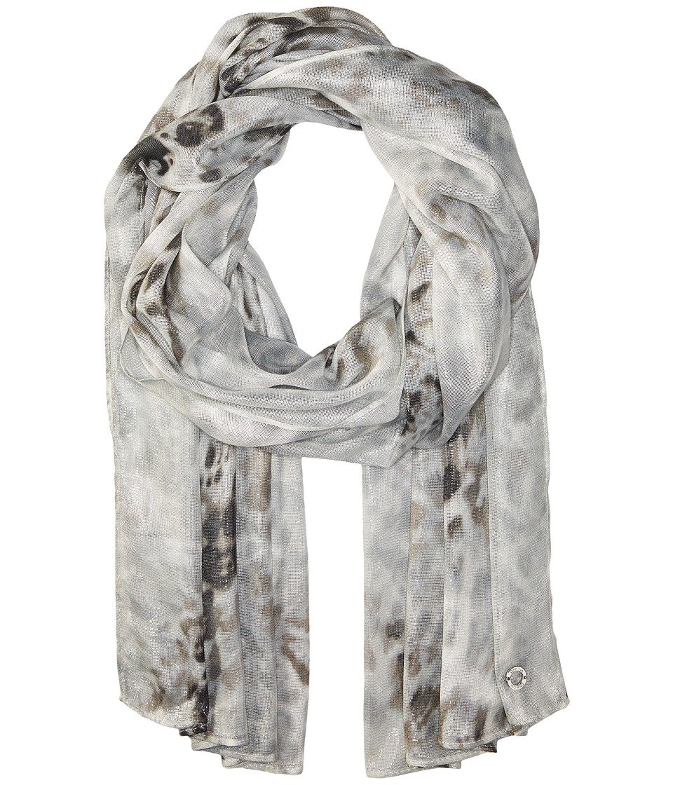 Calvin Klein - Floral Liquid Animal (Grey) Scarves