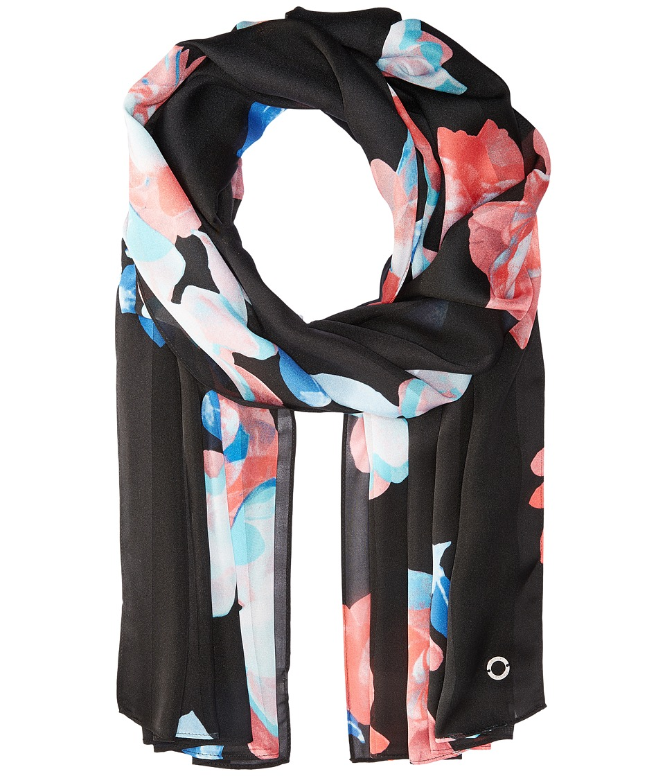 Calvin Klein - Floral Shadow Stripe (Regatta) Scarves