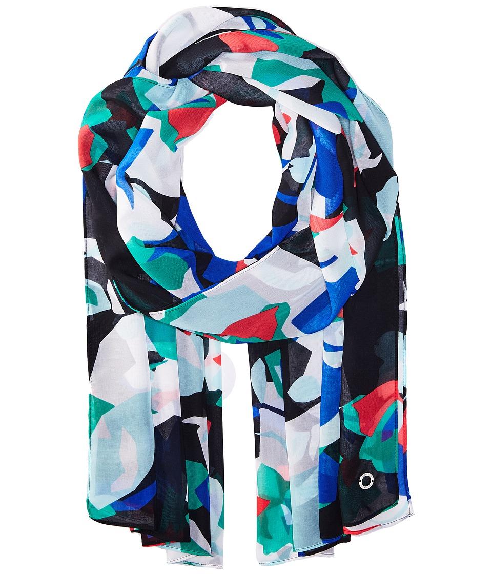 Calvin Klein - Geo Floral Chiffon Scarf (Regatta) Scarves