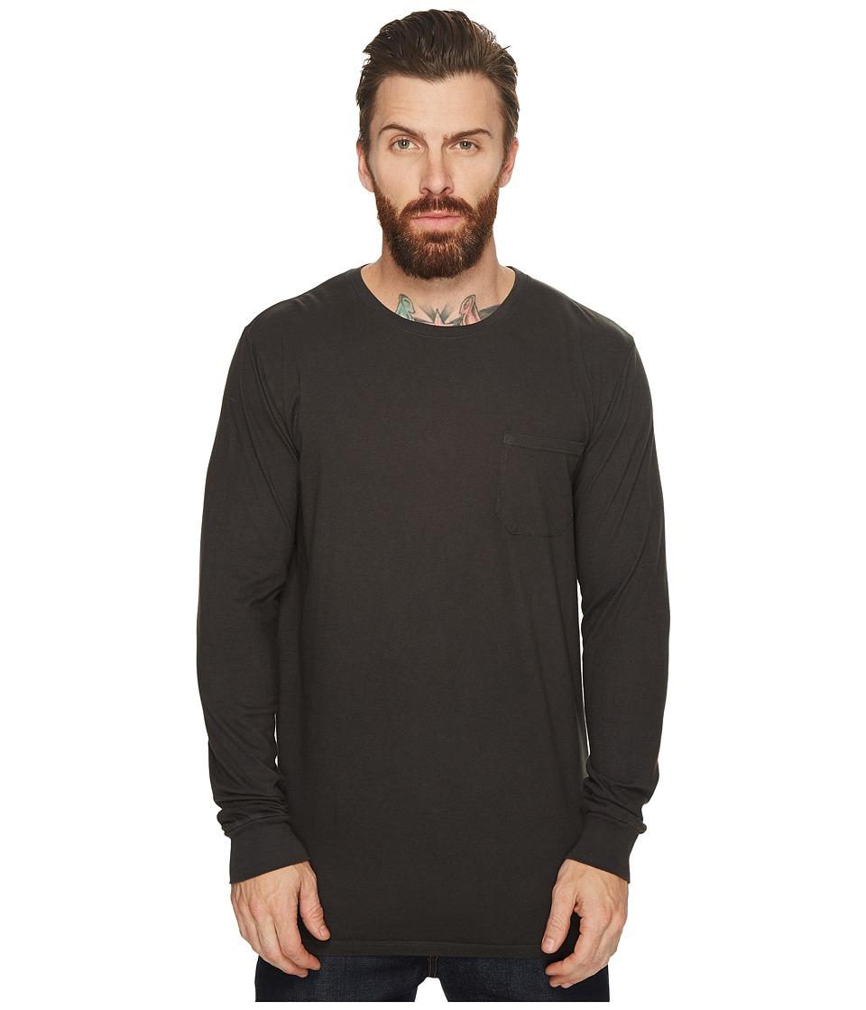 Richer Poorer Long Sleeve Crew Pocket Tee (Charcoal) Men's T Shirt