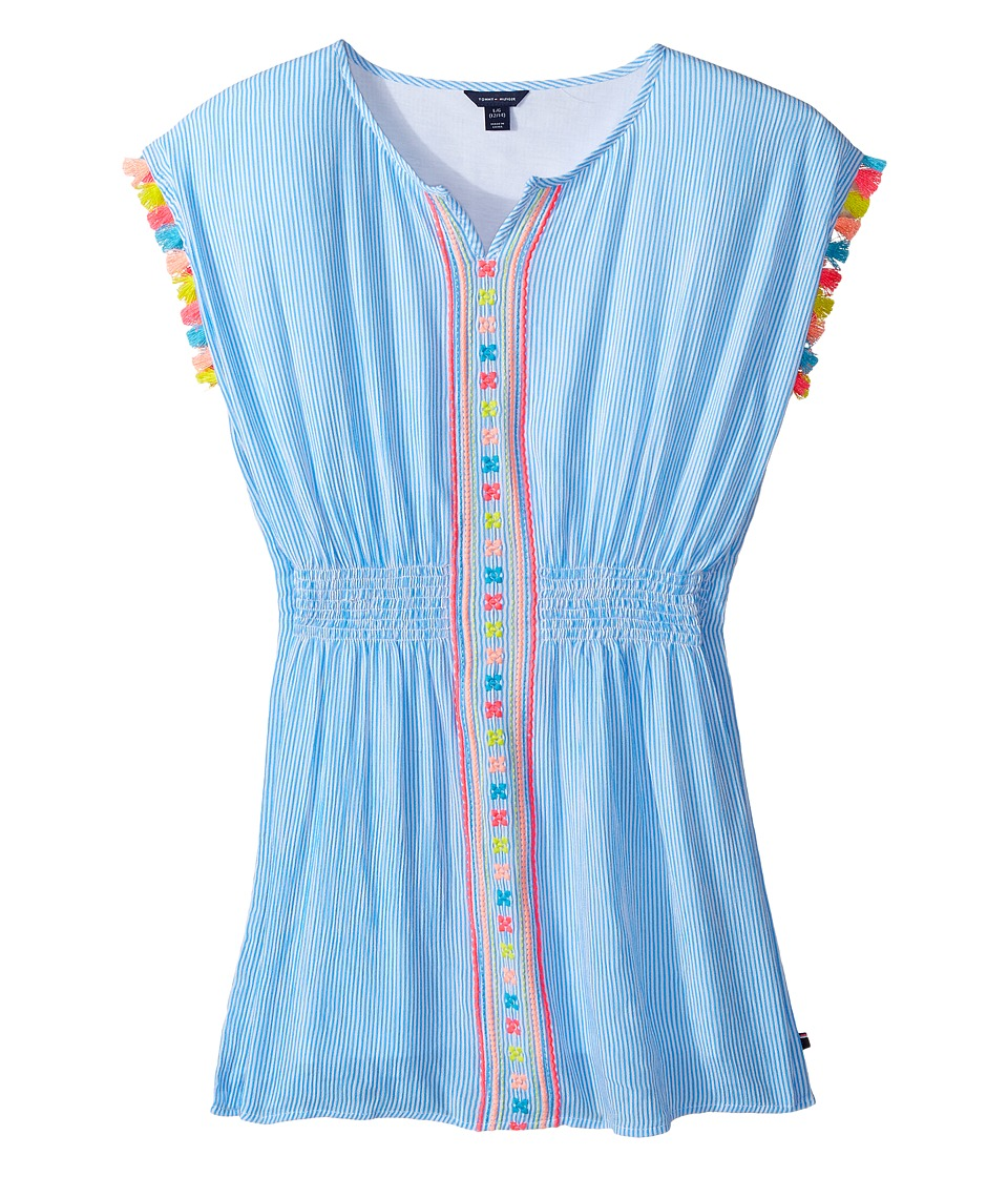 Tommy Hilfiger Kids - Kaftan Dress (Big Kids) (Azure Blue) Girl's Dress
