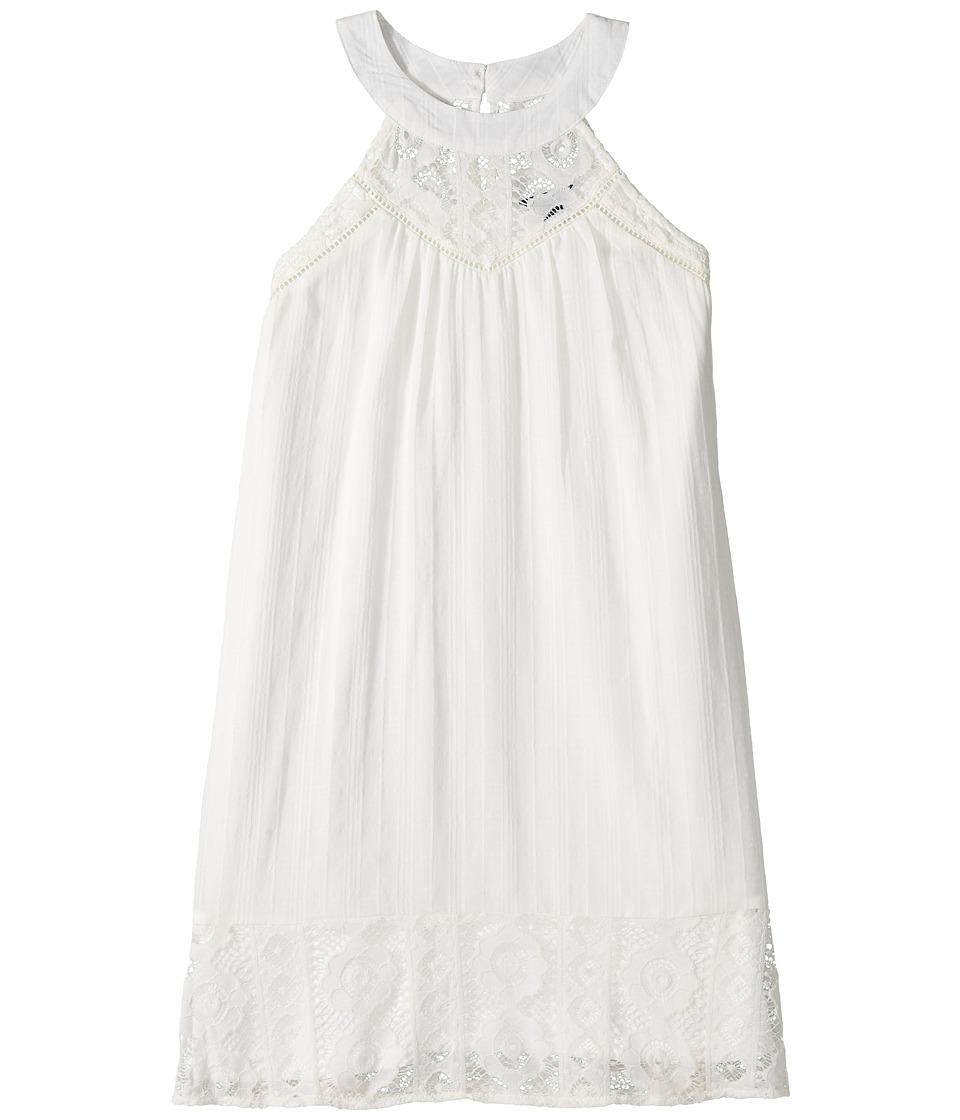 Tommy Hilfiger Kids - Crochet Pieced Dress (Big Kids) (Whisper White) Girl's Dress