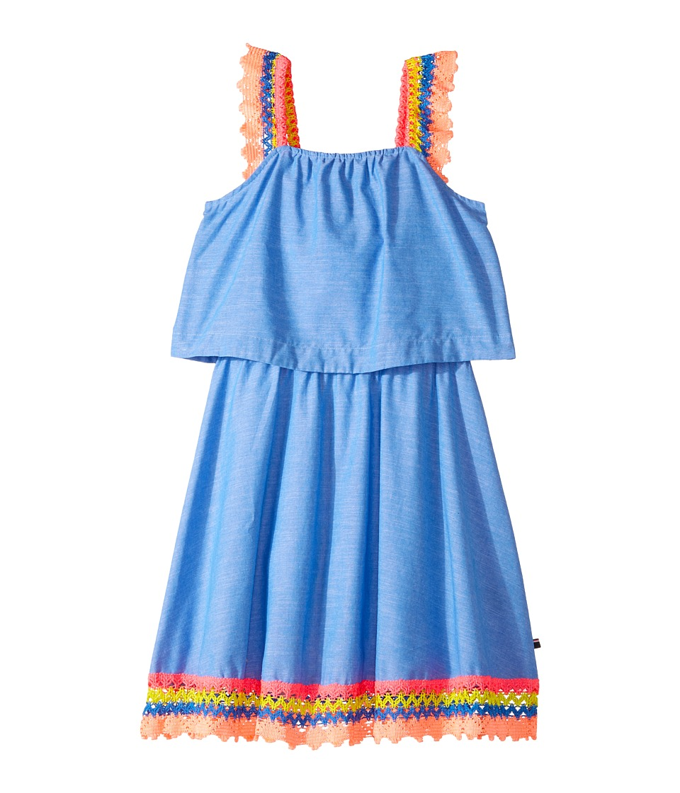 Tommy Hilfiger Kids - Crochet Sleeve and Hem Dress (Big Kids) (Palace Blue) Girl's Dress