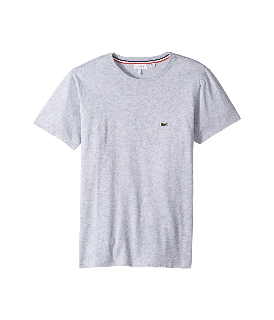 Lacoste Kids - Short Sleeve Solid Crew T-Shirt (Toddler/Little Kids/Big Kids) (Silver Chine) Boy's T Shirt