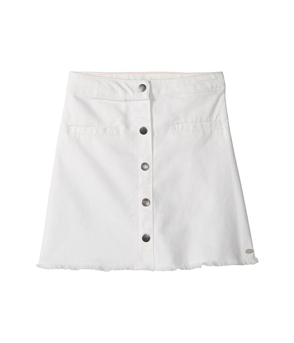 Tommy Hilfiger Kids - Snap Front Fray Skirt (Big Kids) (Whisper White) Girl's Skirt