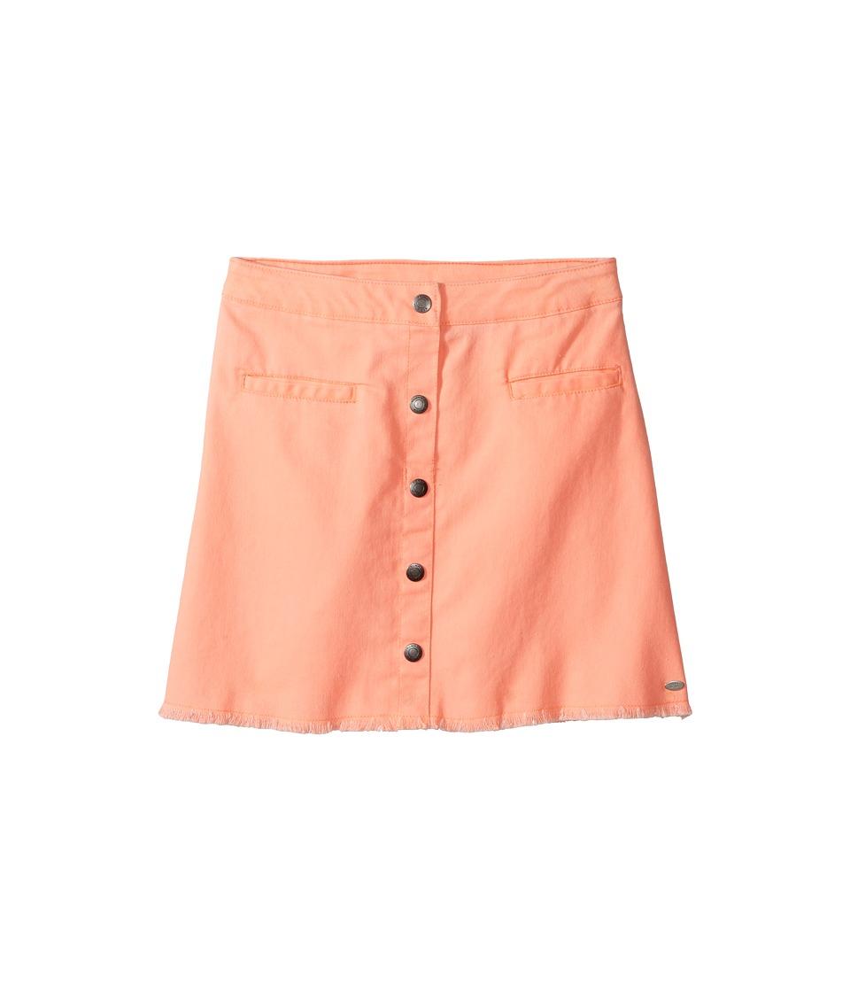 Tommy Hilfiger Kids - Snap Front Fray Skirt (Big Kids) (Bright Melon) Girl's Skirt