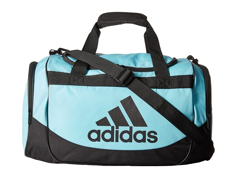 adidas - Small Defense Duffel (Clear Aqua/Black) Duffel Bags