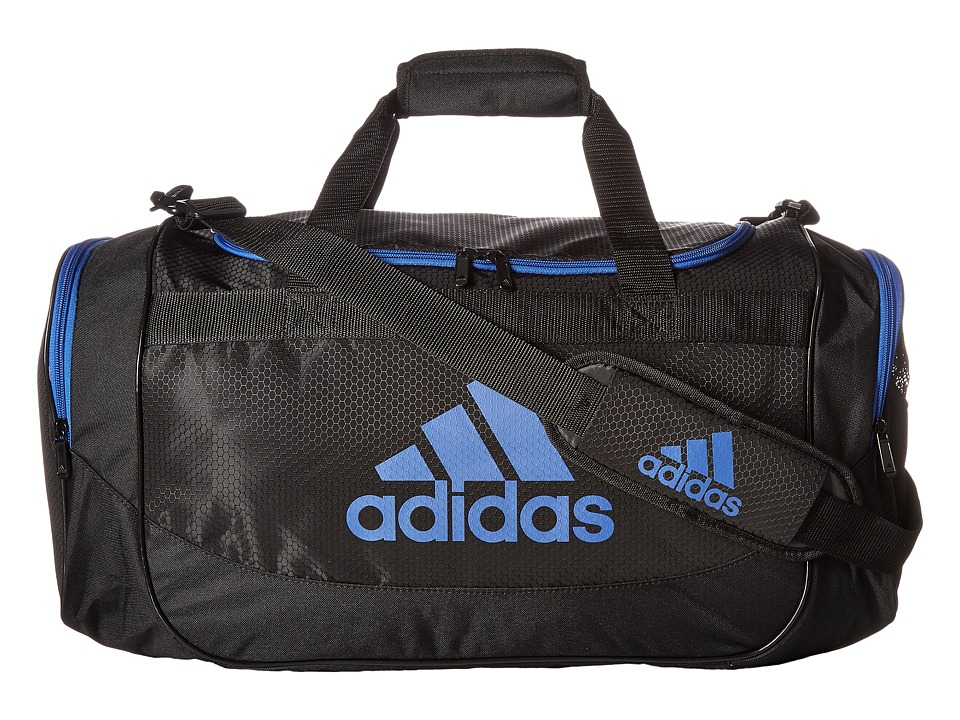 adidas - Medium Defense Duffel (Black/Blue) Duffel Bags
