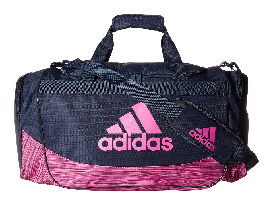 adidas - Medium Defense Duffel (Collegiate Navy/Shock Pink/Shock Pink Looper) Duffel Bags
