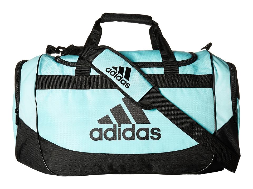 adidas - Medium Defense Duffel (Clear Aqua/Black) Duffel Bags