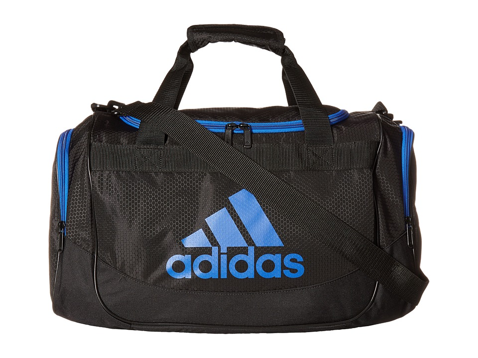 adidas - Small Defense Duffel (Black/Blue) Duffel Bags