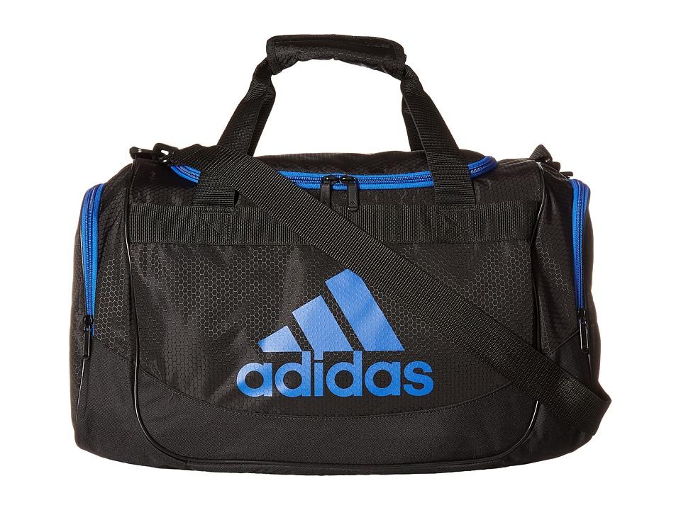 adidas - Small Defense Duffel (Black/Blue) Duffel Bags