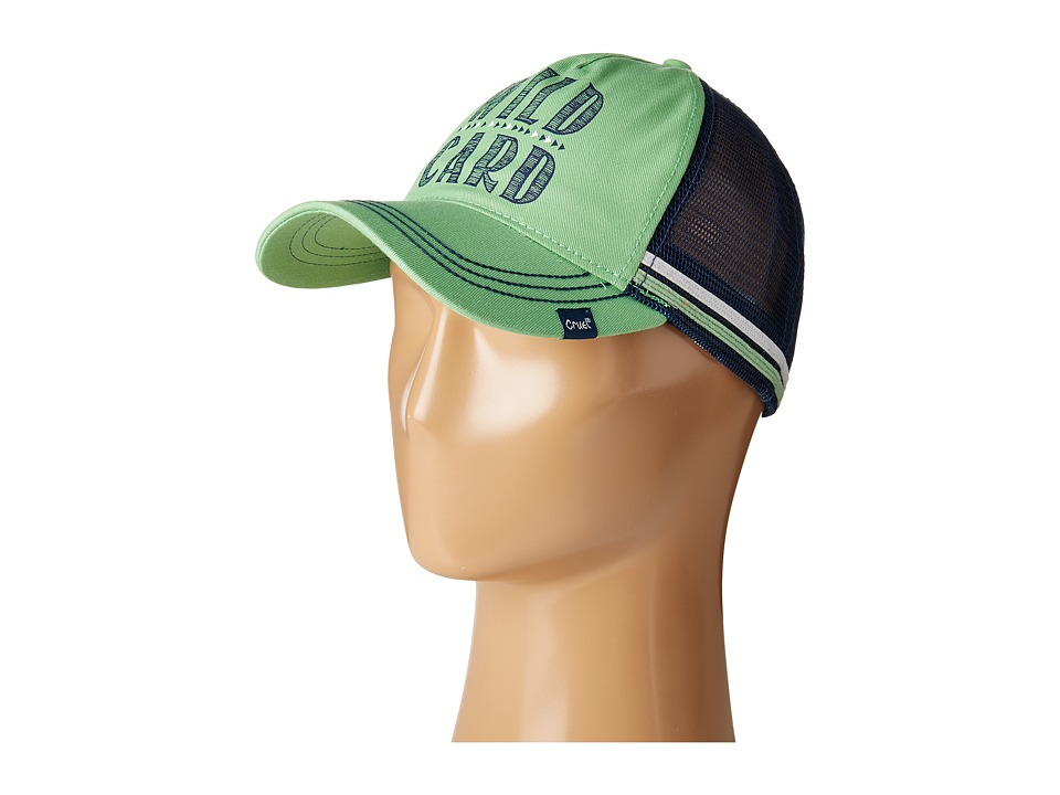 Cruel - Unstructured Mesh Trucker Hat (Lime) Caps