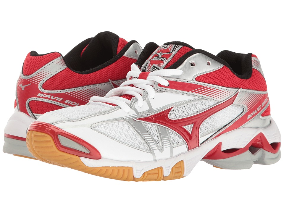 Mizuno - Wave Bolt 6 (White/Red) Women's Running Shoes