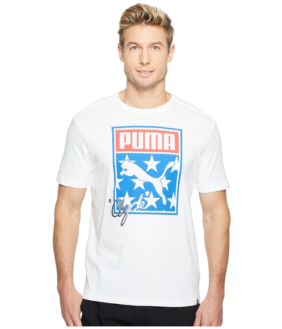 PUMA - Sneaker Tongue Logo Tee (PUMA White) Men's T Shirt