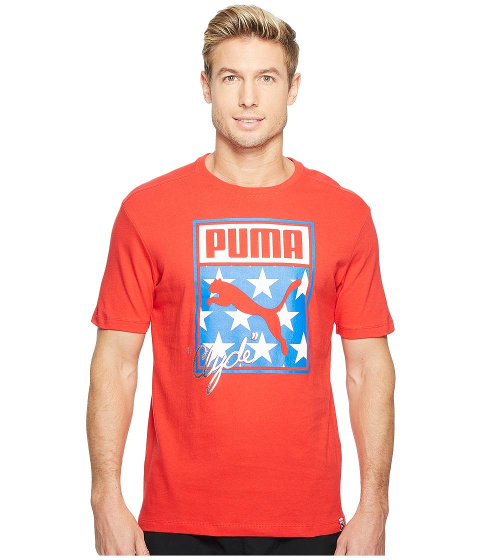 PUMA - Sneaker Tongue Logo Tee (Puma Red) Men's T Shirt