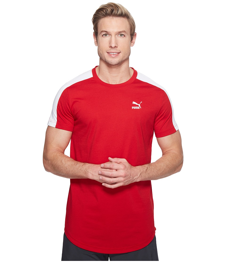 PUMA - T7 Tee (PUMA White/Barbados Cherry) Men's T Shirt