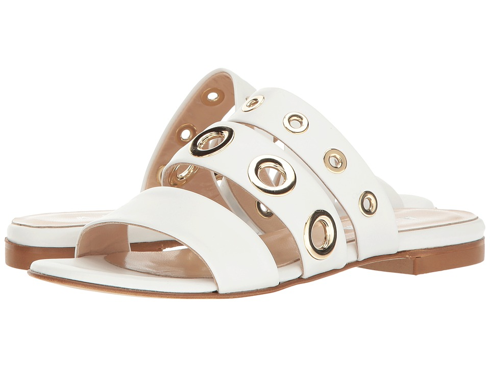 ASKA - Elle (White Leather/Gold Eyelets) Women's Shoes