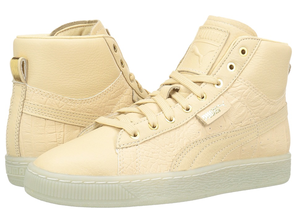 PUMA - Basket Mid Ali (Natural Vachetta/Puma Team Gold) Women's Shoes