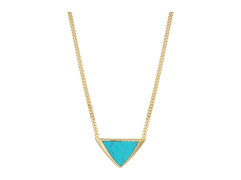 Vera Bradley - Triangle Necklace (Gold Tone) Necklace