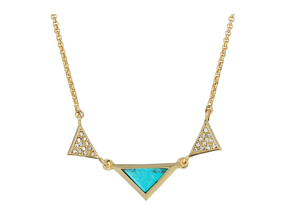 Vera Bradley - Triangle Short Necklace (Gold Tone) Necklace