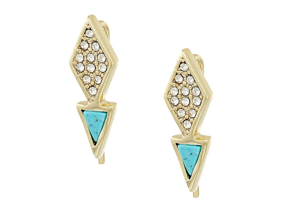 Vera Bradley - Triangle Stud Earrings (Gold Tone) Earring