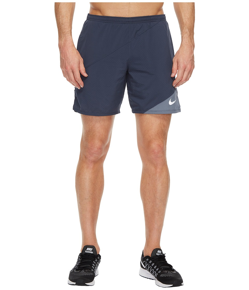 Nike Distance 7 Running Short (Thunder Blue/Armory Blue) Men