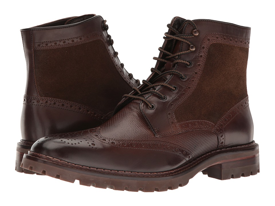 Johnston & Murphy - Greer Wing Boot (Mahogany) Men's Boots