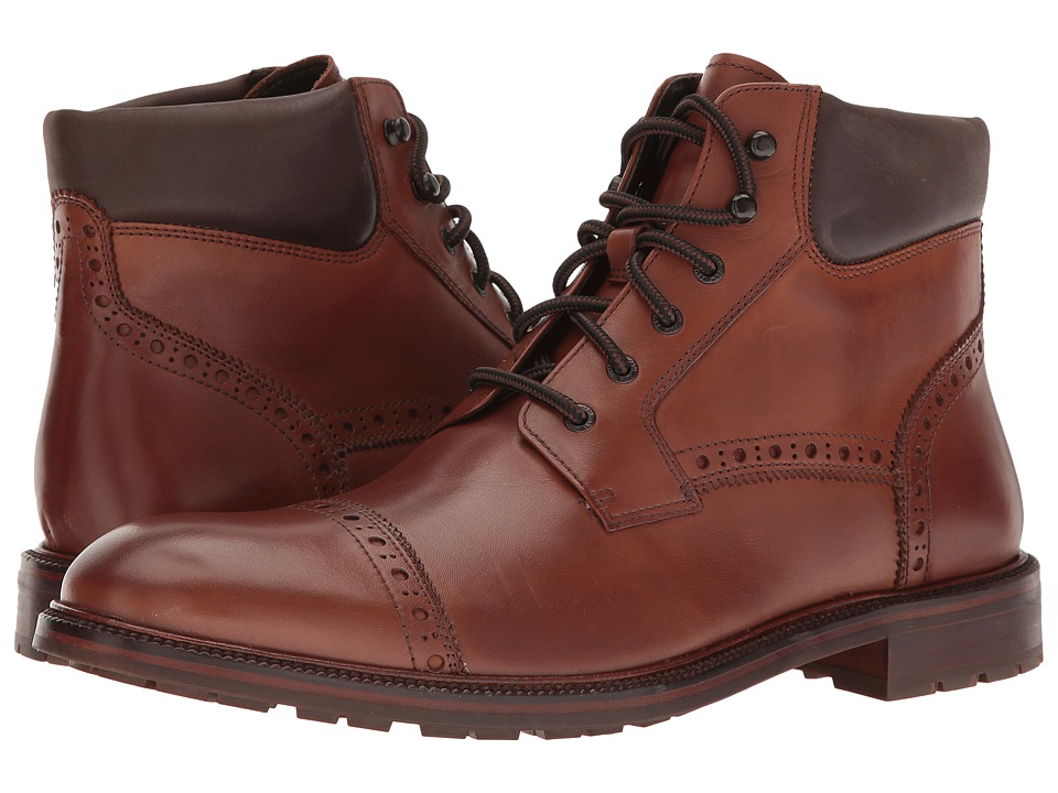 Johnston & Murphy - Fulton Cap Boot (Tan) Men's Boots