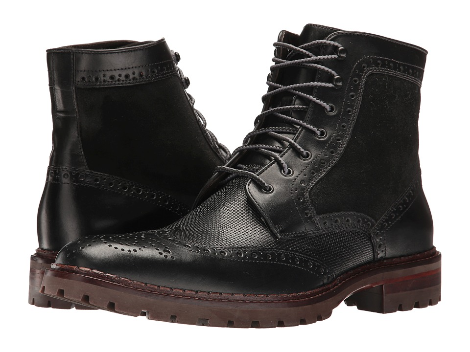 Johnston & Murphy - Greer Wing Boot (Black) Men's Boots