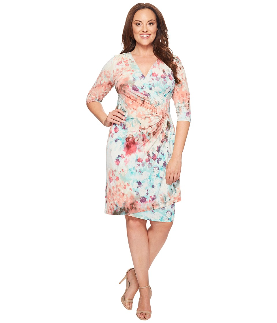 Kiyonna Ciara Cinch Dress (Pressed Flowers) Women's Dress