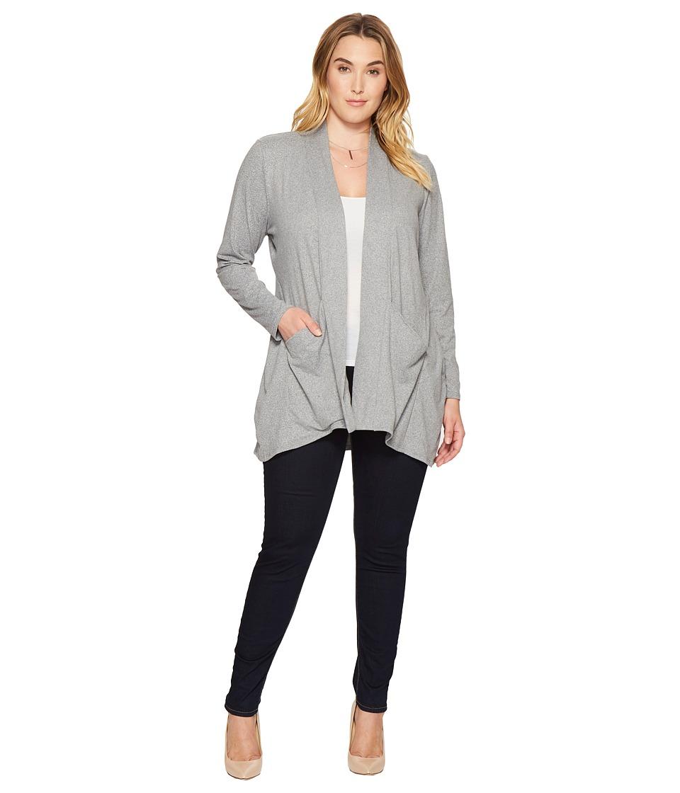 Kiyonna - Adriana Cardigan (Heather Grey) Women's Sweater