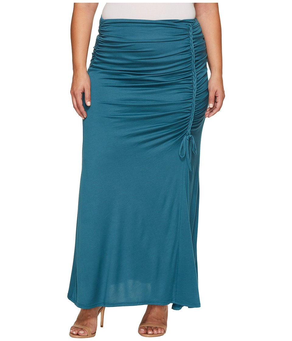 Kiyonna Mermaid Maxi Skirt (Antigua Teal) Women's Skirt