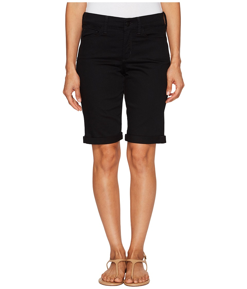 NYDJ Petite - Petite Briella Shorts in Black (Black) Women's Shorts