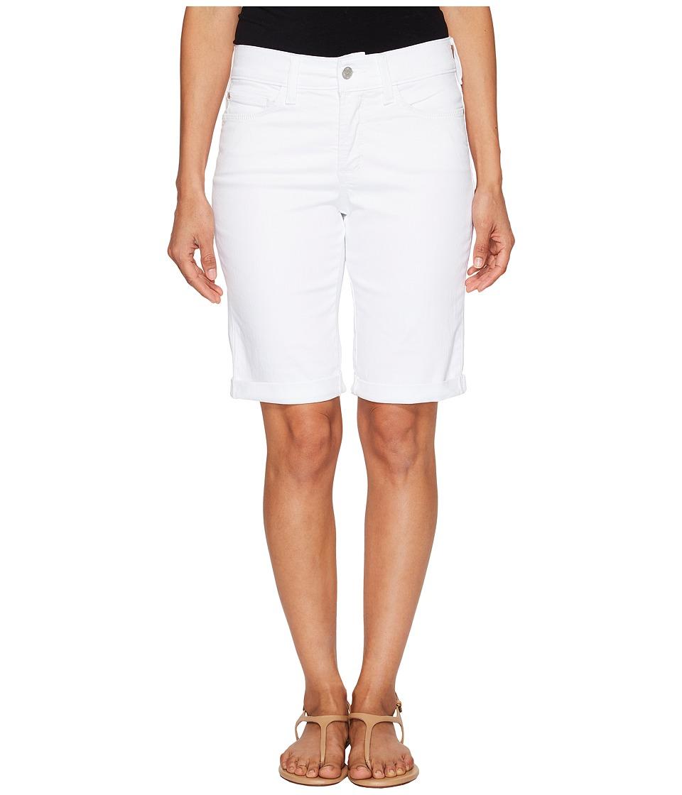 NYDJ Petite - Petite Briella Shorts in Optic White (Optic White) Women's Shorts